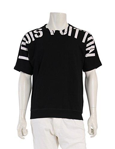(ルイヴィトン) LOUIS VUITTON SWEATSHIRT スウェット 半袖 黒 白 fragment designコラボ 2017AW 中古 B07F1S2CDM  -
