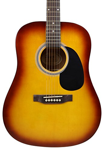 Fender Squier Dreadnought Acoustic Guitar - Sunburst Bundle with Fender Play Online Lessons, Gig Bag, Tuner, Strings, Strap, Picks, and Austin Bazaar Instructional DVD by Fender (Image #4)