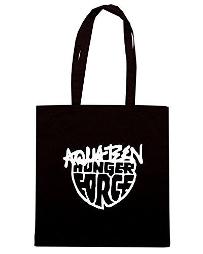 T-Shirtshock - Bolsa para la compra FUN0620 aqua team hunger force band vinyl decal sticker 09550 Negro