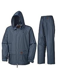 Pioneer V3040180-M Sealed Seams Waterproof Jacket and Pants Combo, Navy, M