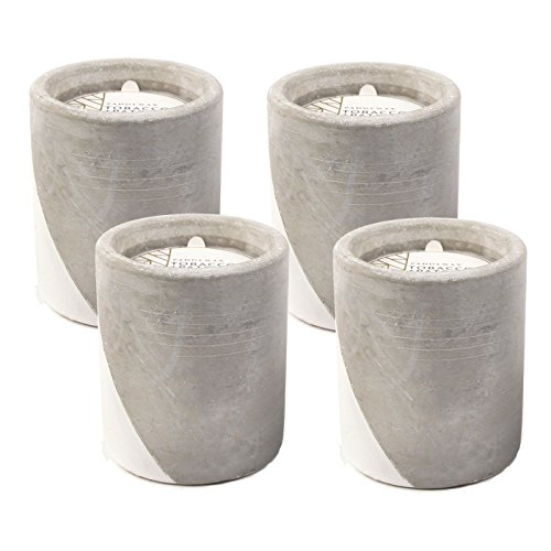 - Paddywax Urban 12 Oz. Concrete Pot White Tobacco & Patchouli Candle - Pack of 4