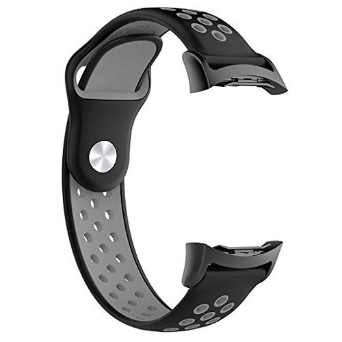 Lyperkin Fenebort Compatible with Samsung Gear S2 SM-R720 / SM-R730 Watch  Bands, Soft Silicone Strap Bracelet with Adapter Replacement Wristband