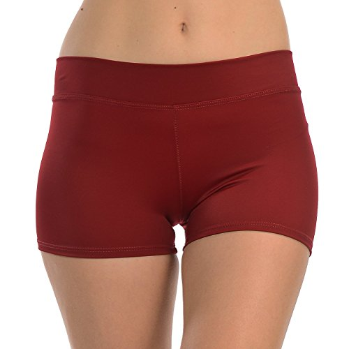 ANZA Girls Active Wear Dance Booty Shorts-Maroon,Medium(8/10) by Anza Collection