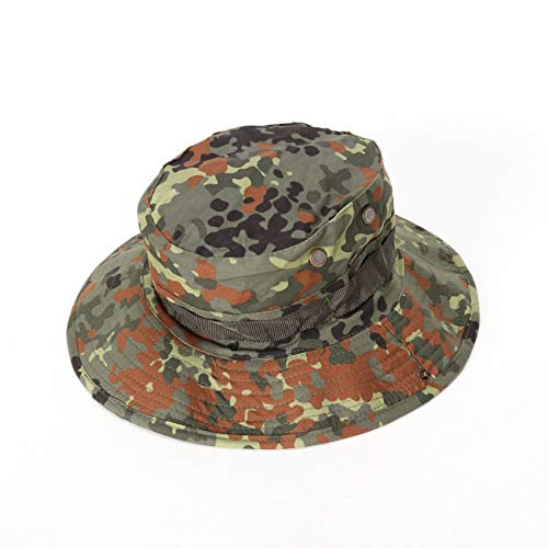 - Military Ba Mesh Safari Cap for Travel Fishing for Fishing, Hiking, Camping, Boating & Outdoor Adventures. Breathable Nylon & Mesh-Germany Camouflage
