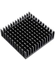 PKA - Disipador térmico para motor paso a paso (5 unidades, 40 x 40 x 11 mm), color negro