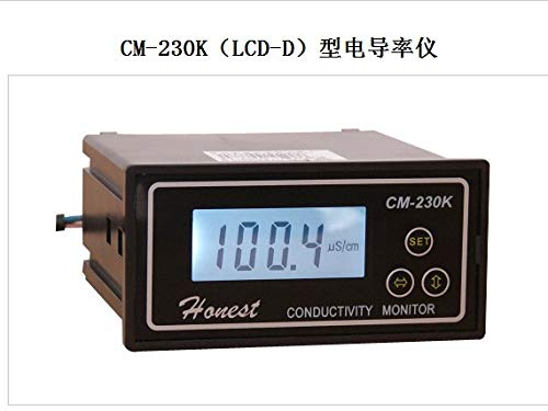 Fevas CM-230K (LCD-D) - Type Conductivity Meter Online Conductivity Meter Large Range Electrical Conductivity Meter -0-20ms ()