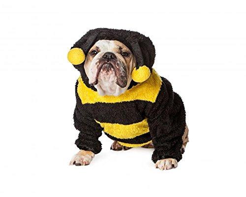 Wallmonkeys FOT-92478259-60 WM359922 Angry Bulldog in Bumble Bee Costume Peel and Stick Wall Decals (60 in W x 48 in H), Jumbo ()
