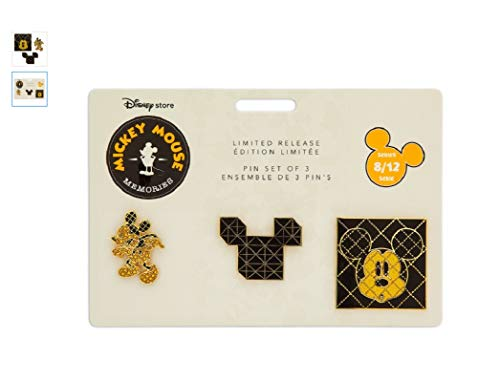 Disney - Mickey Mouse Memories Pin Set - August - Limited Release (Mickey Mouse Pin Set)