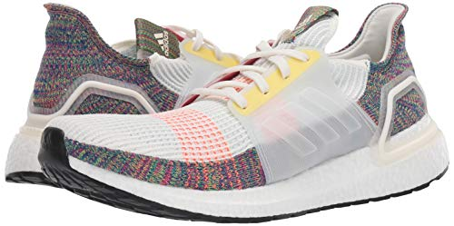 adidas Men's UltraBOOST 19 Athletic Shoe, Cloud White/Scarlet/Bright Yellow, 9 Medium US