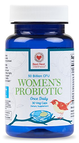 Best Nest Women's Probiotics Supplement | 50 Billion CFU With Acidophilus and 12 Other Probiotic Strains, More Complete Than Other Supplements, All Natural, 30 Once Daily Time Release Capsules (Time Release Calcium + D compare prices)