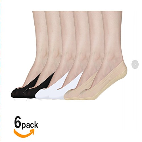 Low Liner (Women's No Show Liner Low Cut Cotton Nylon Boat Hidden Invisible Socks(6 Pairs) (black2white2nude2),Large)