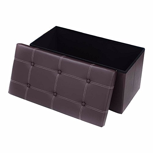Storage Bench ,Foldable Storage Bench , Faux Leather And Thickening Sponge  For Livingroom 29 7/8 Part 56