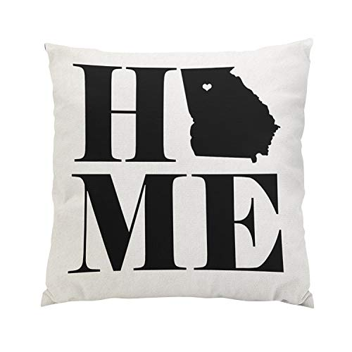 Skully Romantic Square Home Georgia State Choose Your Color Hidden Zipper Home Sofa Decorative Throw Pillow Cover Cushion Case 18x18 Inch Two Sides Design Printed Pillowcase