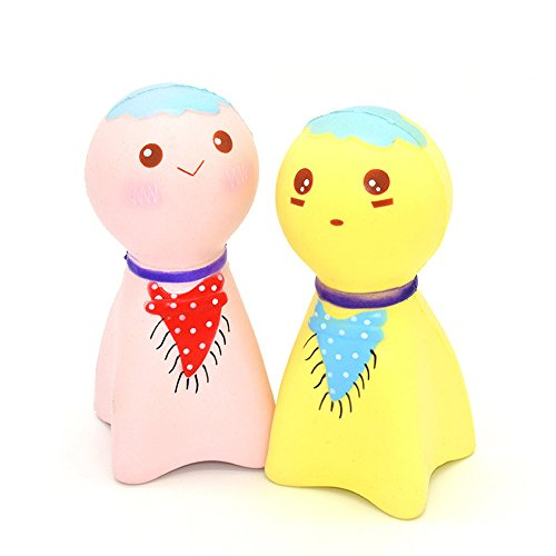 Kawaii Jumbo Slow Rising Squishies Cute Sunny Doll Scented Stress Relief Toys for Kids and Adults(Random Colors) - - Sunnies Cute