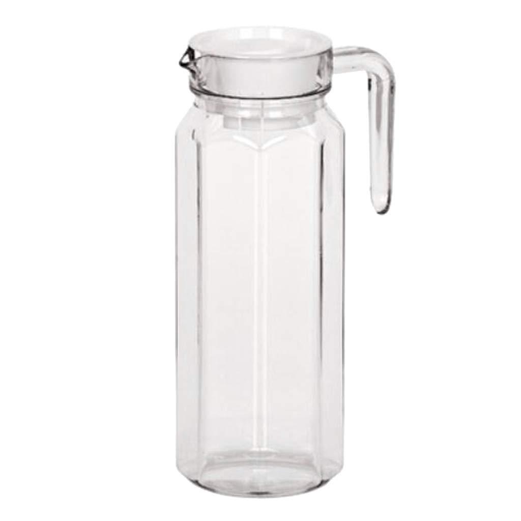 Achteckiger Topf 1100 ml Non-brand Jarra de Agua sin Quemar Vaso de Bebidas acr/ílico Jarra de Cerveza Jarra de Zumo