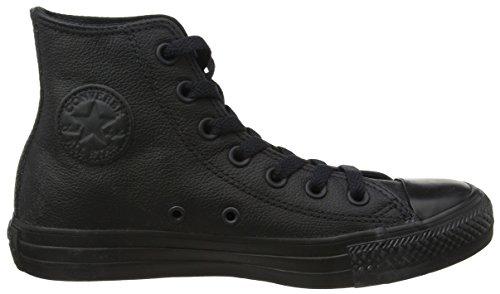 Converse Unisex All Star Leder Hi Sneaker Schwarzes Leder