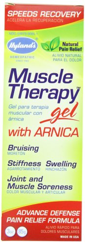 Hyland's Muscle Therapy Gel with Arnica, Natural Joint and Muscle Soreness Advanced Defense Pain Relief Formula, 3 Ounce  ( pack of (Muscle Therapy Gel)