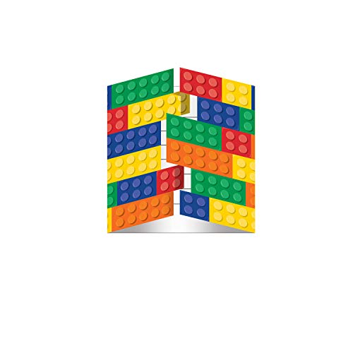 Building Block Birthday Party Invitation For 16 guest- Block Party Birthday, Boy Birthday, Girl Birthday]()