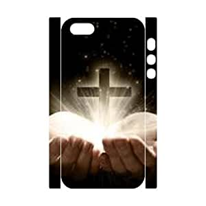3D Bumper Plastic Customized Case Of Jesus Christ Cross for iPhone 5,5S