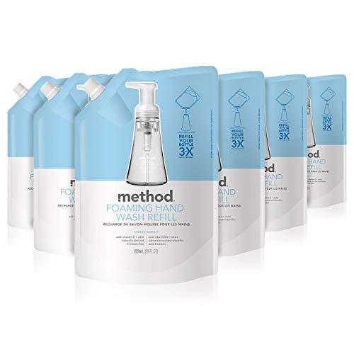 Method Foaming Hand Soap Refill, Sweet Water, 28 Fl. Oz (Pack of 6)