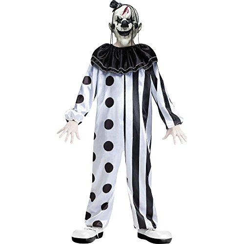 Fun World Boys Killer Clown Costume with Mask, Multicolor, Large (Evil Girl Clown Costumes)
