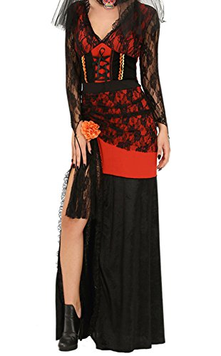 [LikeYOU Day of The Dead Diva Halloween Costume(Size,L)] (Sexiest Halloween Costumes Galleries)