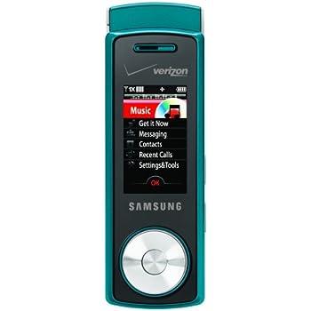 amazon com samsung juke phone teal verizon wireless cell phones rh amazon com Samsung U470 Samsung Verizon Wireless