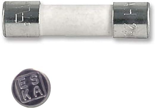 10 fusibles rápidos (F) de cerámica, 8 A/250 V CA, 5 x 20 mm: Amazon.es: Iluminación
