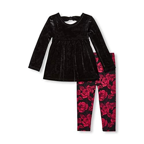 The Children's Place Girls' Toddler Legging Set, Black ()