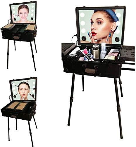 BYCDD Maleta de Maquillaje Profesional, Profesional Estuche Cosméticos Beauty Case Makeup Maletín Maquillaje Trolley,Black: Amazon.es: Hogar