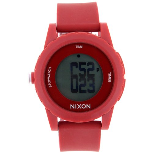 NIXON Men's A326-200 Plastic Analog Black Dial Watch (Genie Watches Nixon)