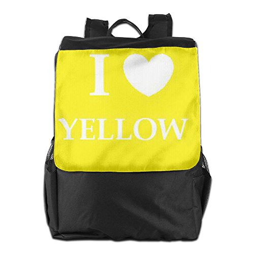 School For Love Women And Dayback Personalized Backpack Men Yellow Adjustable HSVCUY Outdoors Camping Strap Shoulder Storage I Travel xZXWC60