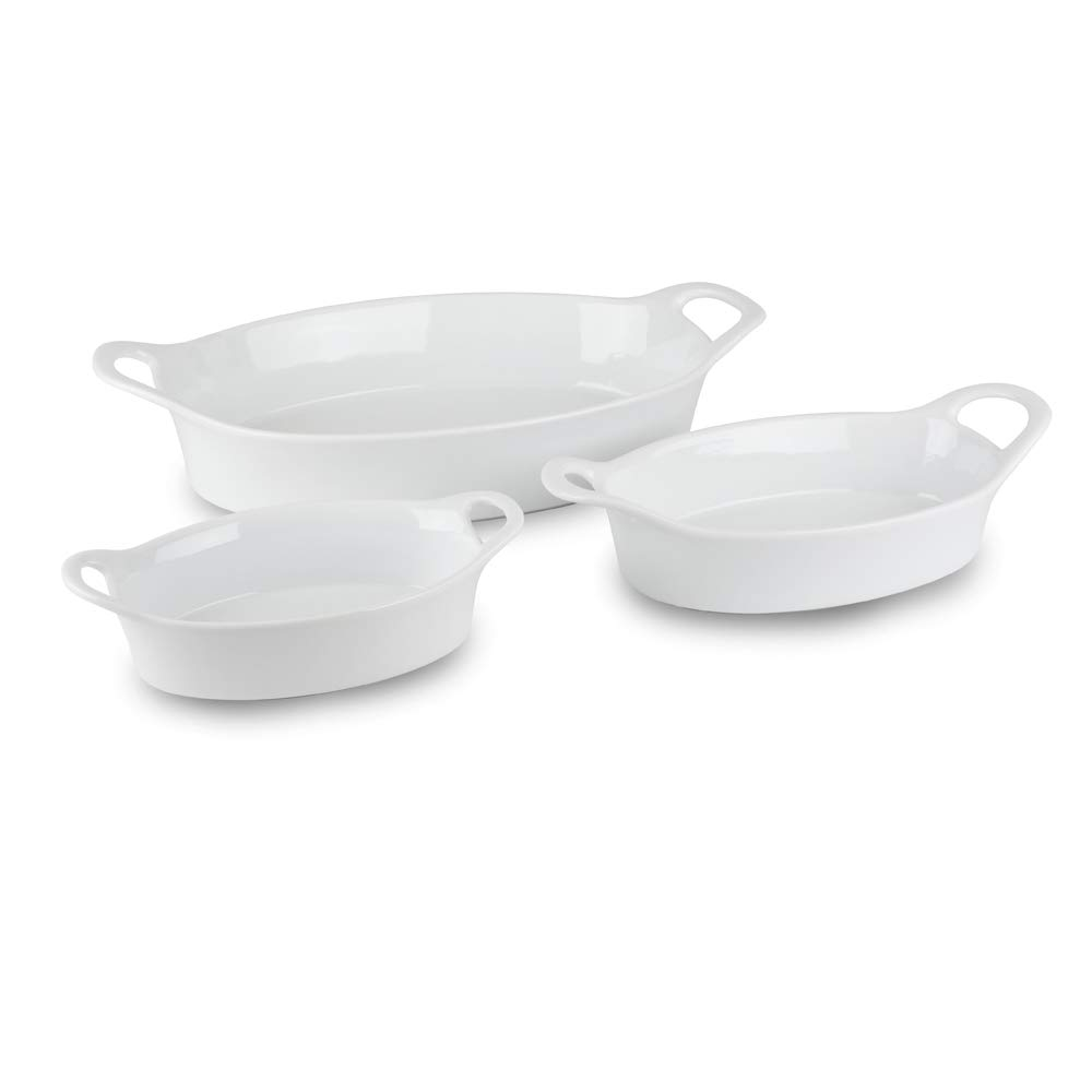 Blue Harbor 3pc Open Oval Bake Ware Set