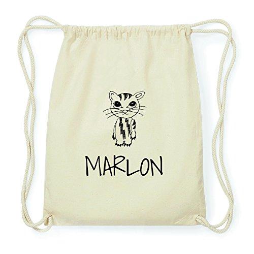 JOllipets MARLON Hipster Turnbeutel Tasche Rucksack aus Baumwolle Design: Katze