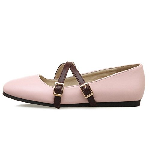 2 Zanpa Women Shoes Pink On Ballets Slip qXPX7w6