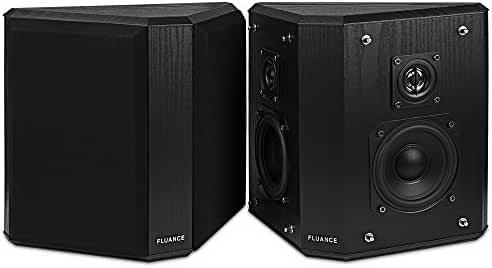 Fluance AVBP2 Home Theater Bipolar Surround Sound Satellite Speakers
