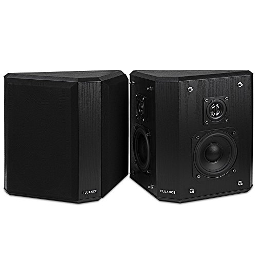 - Fluance SXBP2 Home Theater Bipolar Surround Sound Speakers (Black Ash)