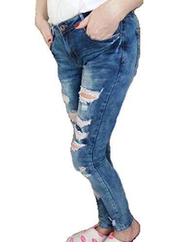 Stretch Dlav Haute Denim Jeans Taille Pantalons Comme Femmes Pantalons Image Skinny Dchir gYZWqx8nH