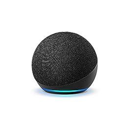 Echo Dot (4th Gen, Black) Combo with Wipro 9W LED Smart Color Bulb – Smart Home Starter Kit