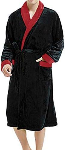 ンパジャマ フード付きフリース抱擁はガウンフリースパジャマを包帯でメンズソフト&コージーローブはフード付き軽量暖かいバスローブを設定します。 -4561