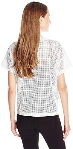 Anne Klein Women's Faux Leather Tee, White 16