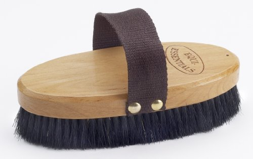 "Equi-Essentials Wood Backed Horshair Body Brush - Size:Large 7"" Color:Natural"