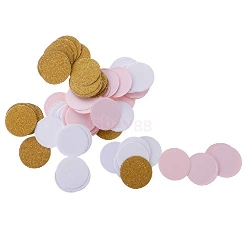 100pcs Romantic Round Paper Gold Pink White Confetti Wedding Party Supplies from Brosco