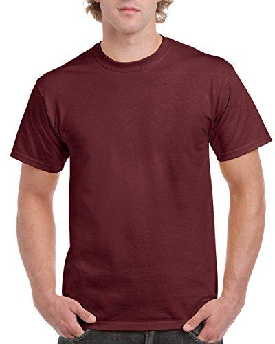 Manches Homme Courtes shirt Gildan Bordeaux À T UwtOqC