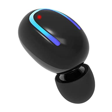 LOBKIN Auriculares Bluetooth, Auriculares inalámbricos más pequeños con micrófono, 6 Horas de reproducción para