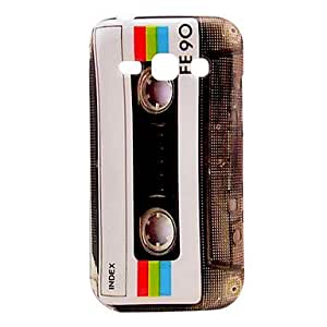 FE90 Tape Cassette Pattern Back Cover Hard Case for Samsung Galaxy Ace 3 S7272