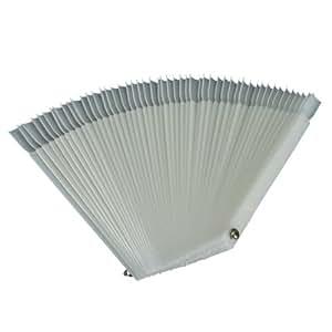 50 Pcs White Fan-shaped False Fake Nail Art Tips Sticks Polish Gel Salon Display Chart Practice Tool