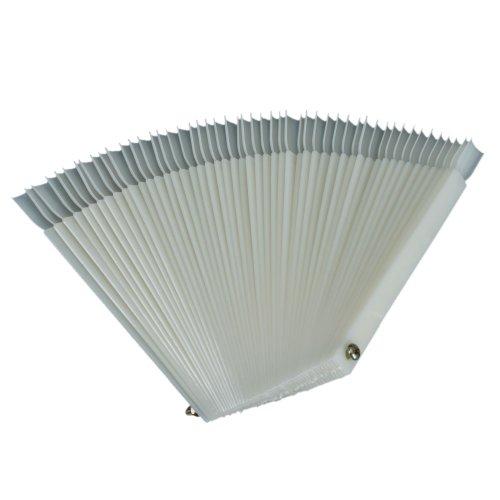 ReNext 50 Pcs White Fan-shaped False Fake Nail Art Tips Stic