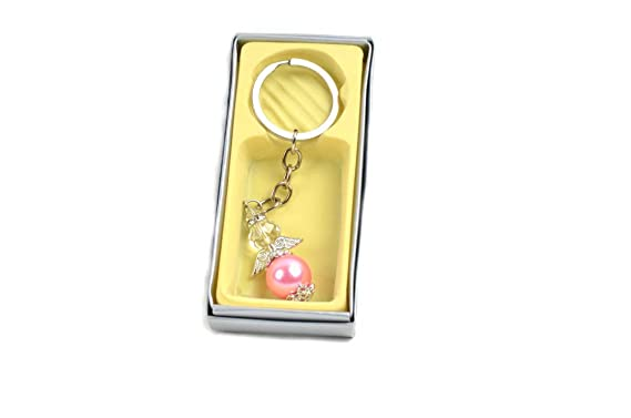 Amazon.com: Keychain Pearl Angel Figure With Gift Box/Party ...