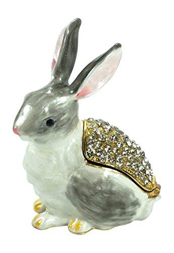 (Welforth Bejeweled Bunny Rabbit Trinket Box 3.25 Tall)